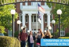Photo of USA ANDERSON UNIVERSITY SCHOLARSHIPS FOR INTERNATIONAL UNDERGRADUATE STUDENTS 2021-2022